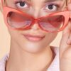2000ler kemik yavru ağzı geniş çerçeveli kenarlı gözlük