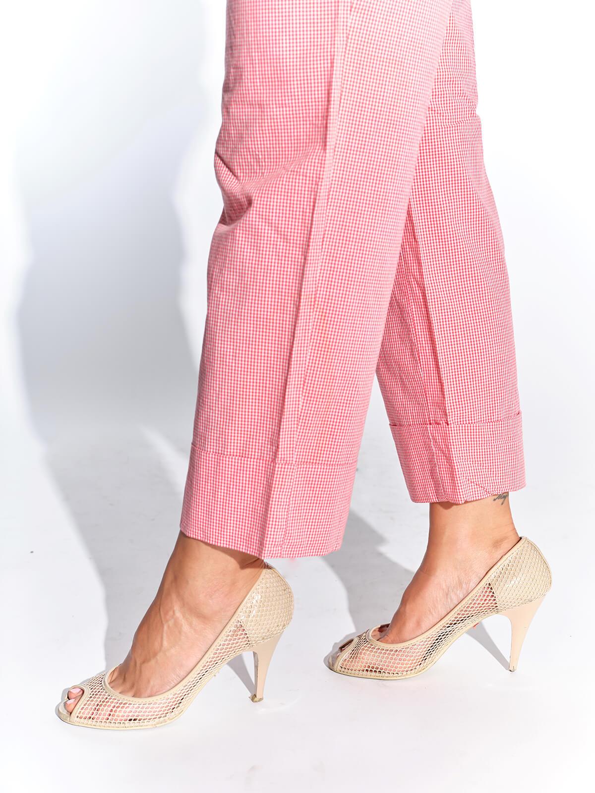 000'ler vintage kafesli ekru ayakkabı