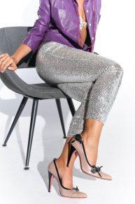 Pembe Prada, 50'ler modeli gül kurusu ayakkabı