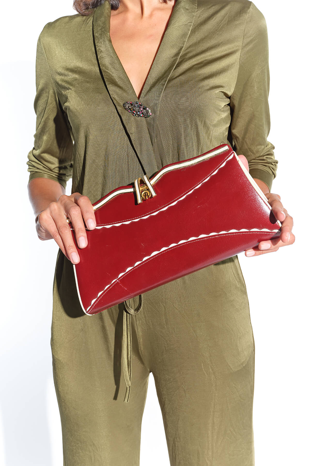 Tipik 80ler bordo clutch çanta