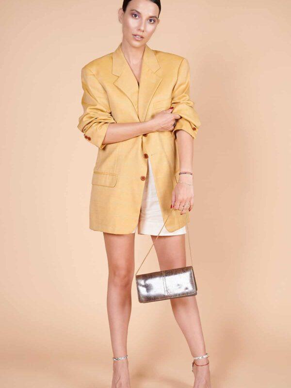 90'lar Vakko keten saman sarısı maskülen ceketi