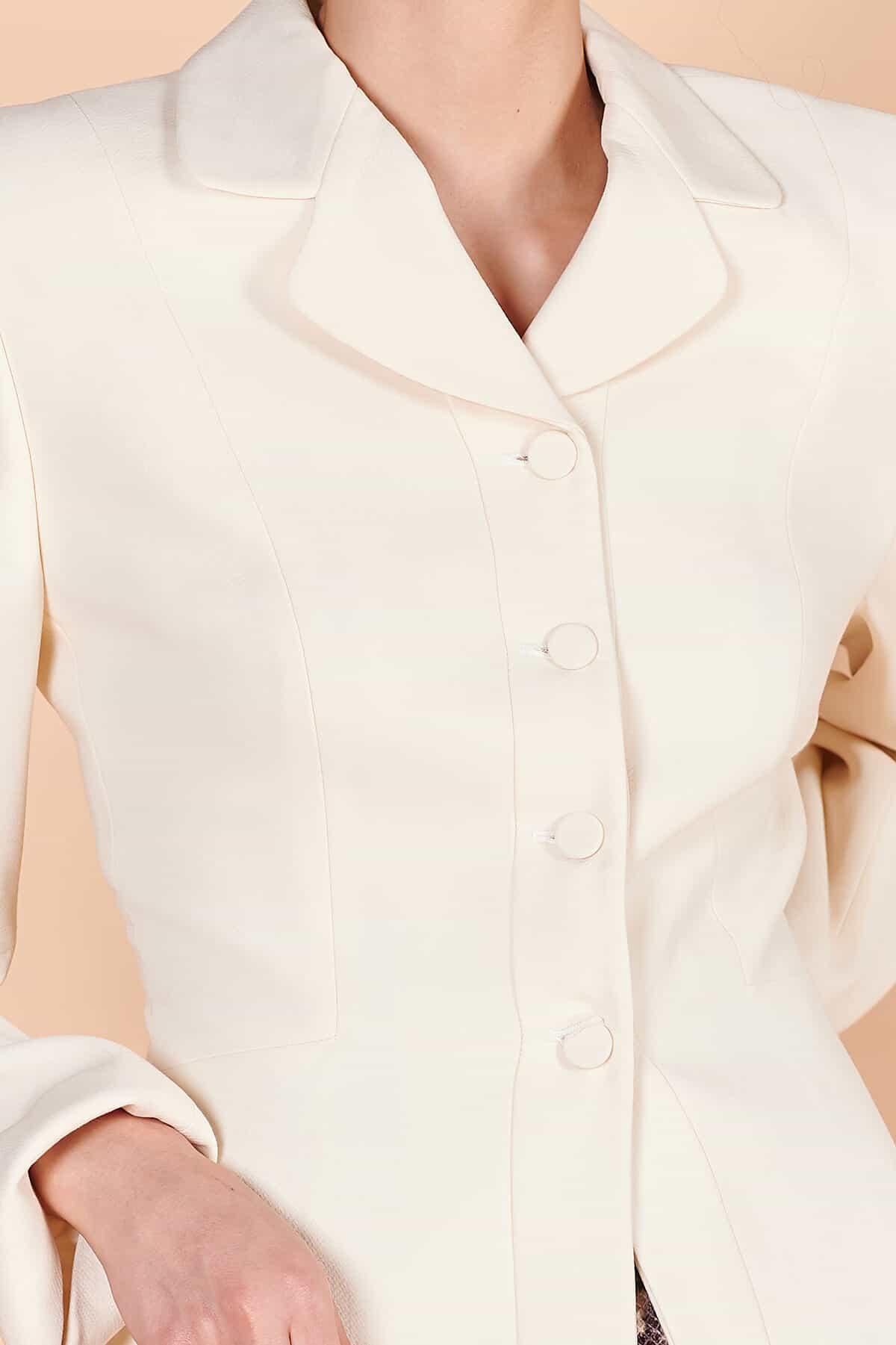 90'lar Armani klasik spor beyaz blazer 4 düğmeli ceket