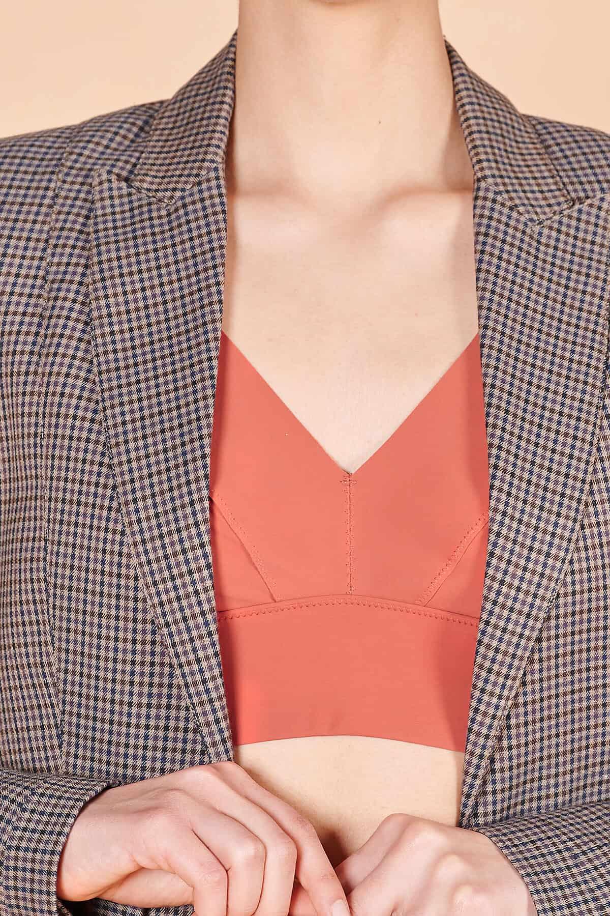 90lar Vakko ince ekoseli yünlü kumaş İskoç ceket