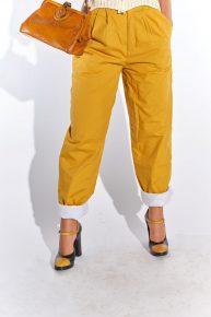 vintage pantolon retro pantolon 90lar hardal sarısı sonbaharlık kalın vintage pantolon