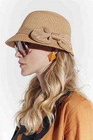 Doğal formda klas yazlık hasır şapka