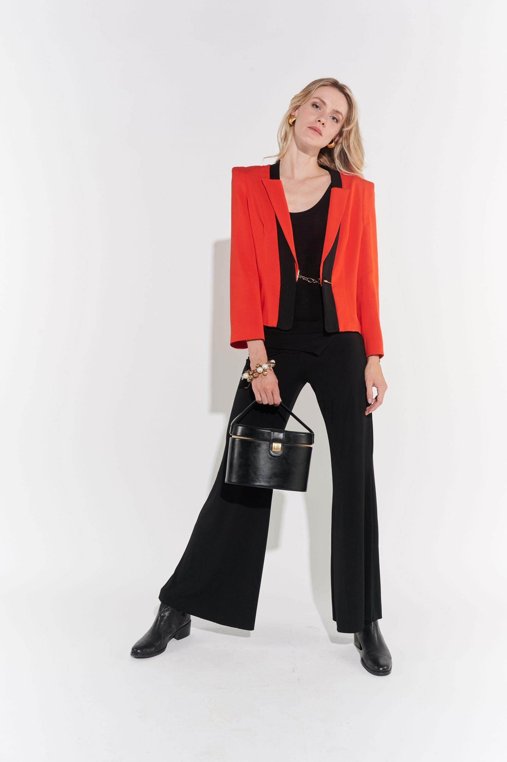 90lar kırmızı gabardin kumaş kısa vintage ceket