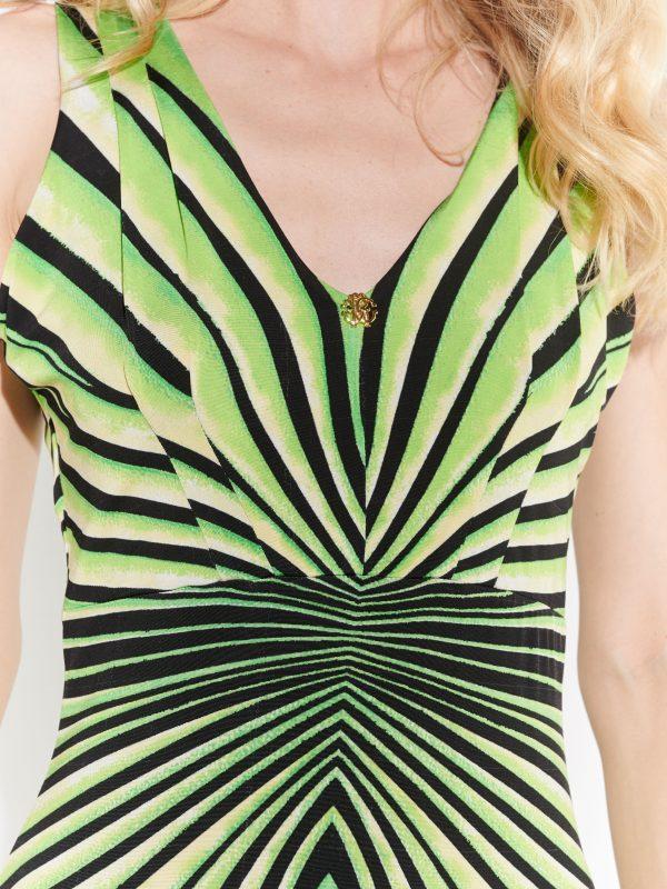 Diz üstü yeşil elbise