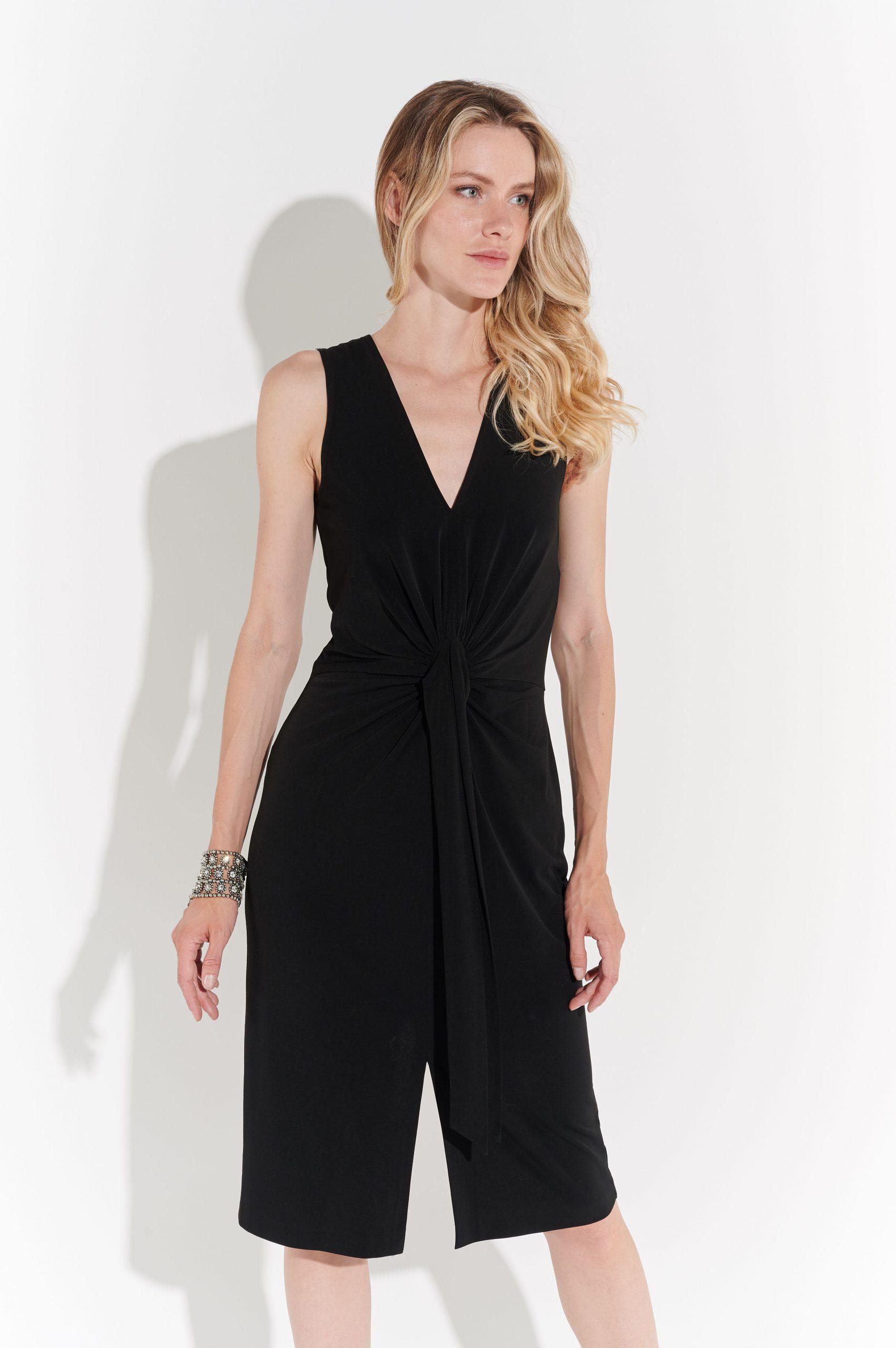 90lar Joseph Ribkoff Siyah Elbise