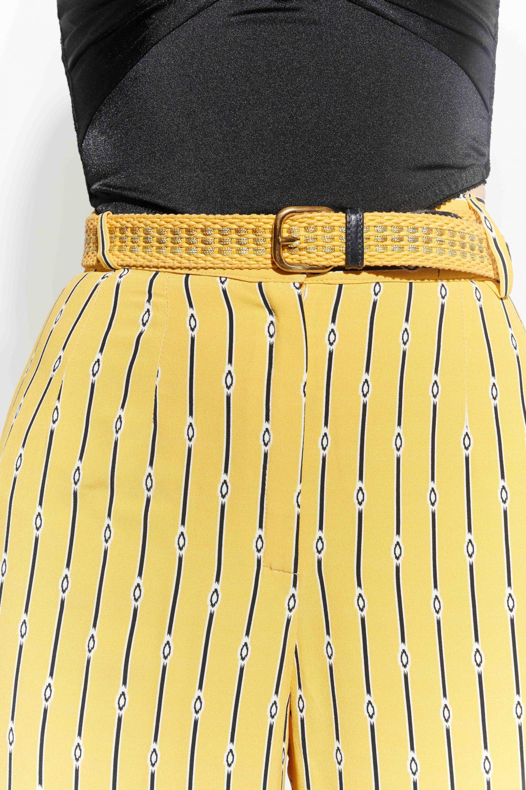 90'lar Lanvin marka sarı lacivert kemer