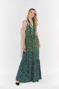 Askılı yeşil elbise