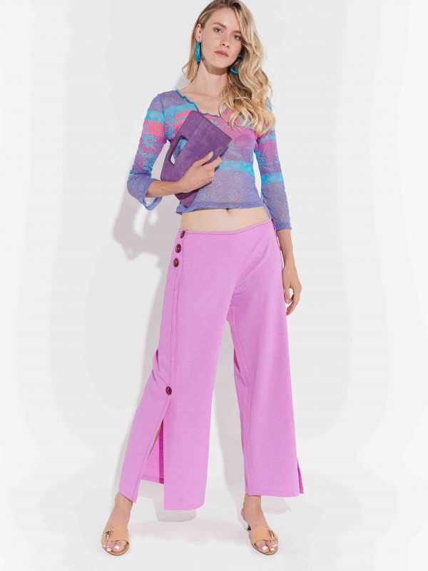 80'ler Kesimli Keten Pantolon