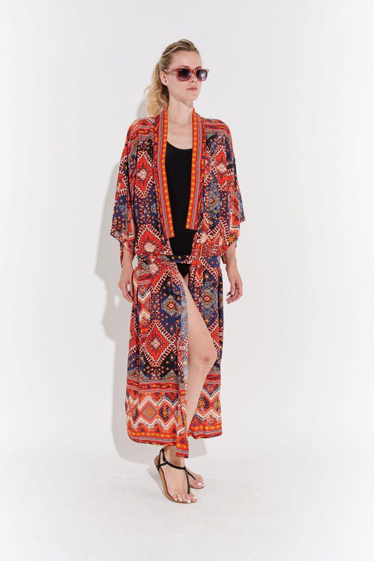 Japon tarzı retro kimono