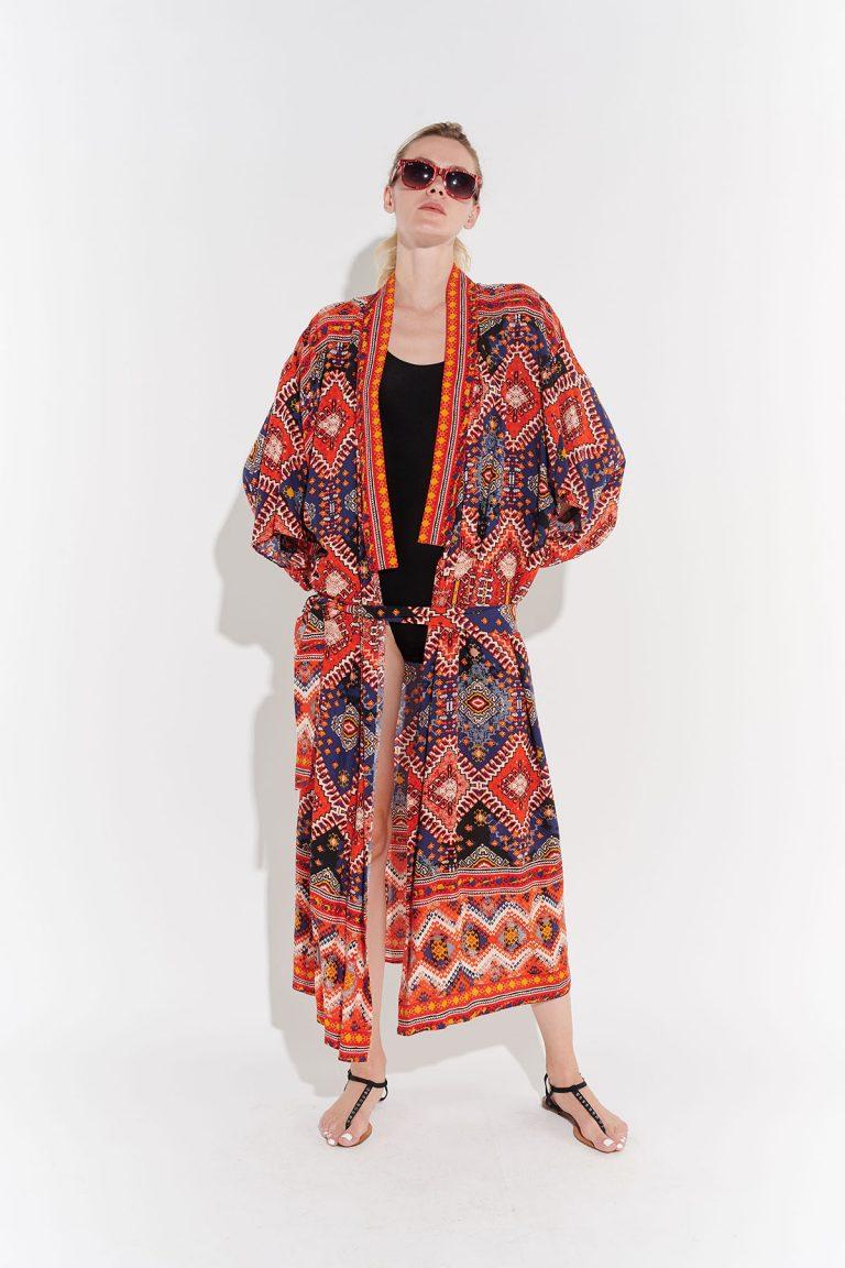 Retro 70ler Kimono, Japon tarzı kimono