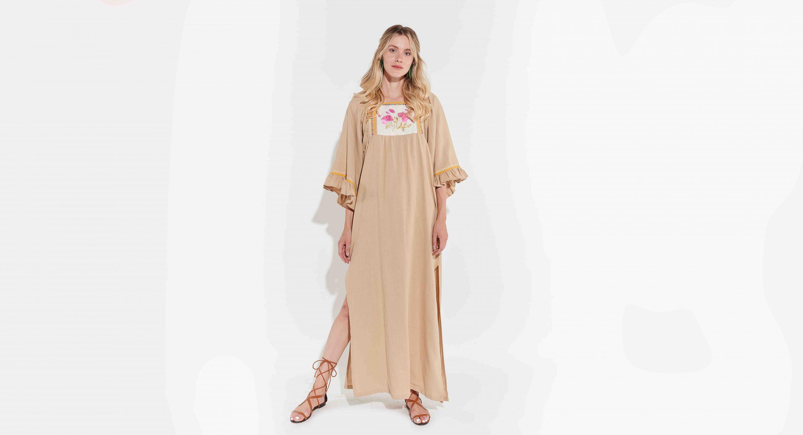 vintage elbise, retro giyim, 70ler retro, bohem etnik elbiseler