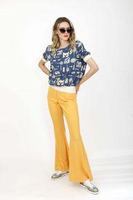 İspanyol Paça Sarı Pantolon