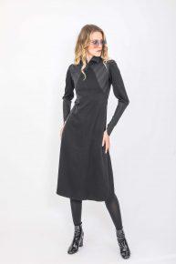 90lar Siyah Gotik Elbise
